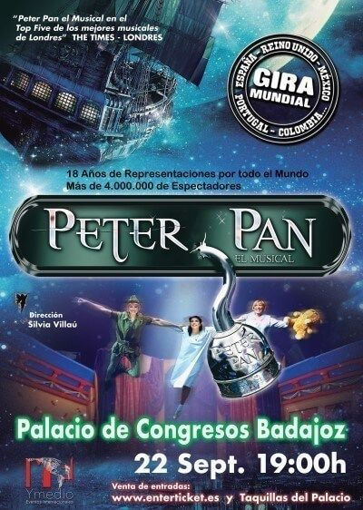 Peter Pan el musical en Badajoz